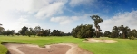 11th and 17th green panorama