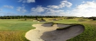 16th green and bunkers