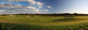 11th green and fairway panorama