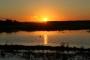 16th hole lake during sunset