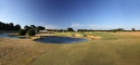 7th hole fairway bunkers lake and green